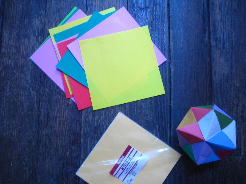 balles en origami, à vos papiers!