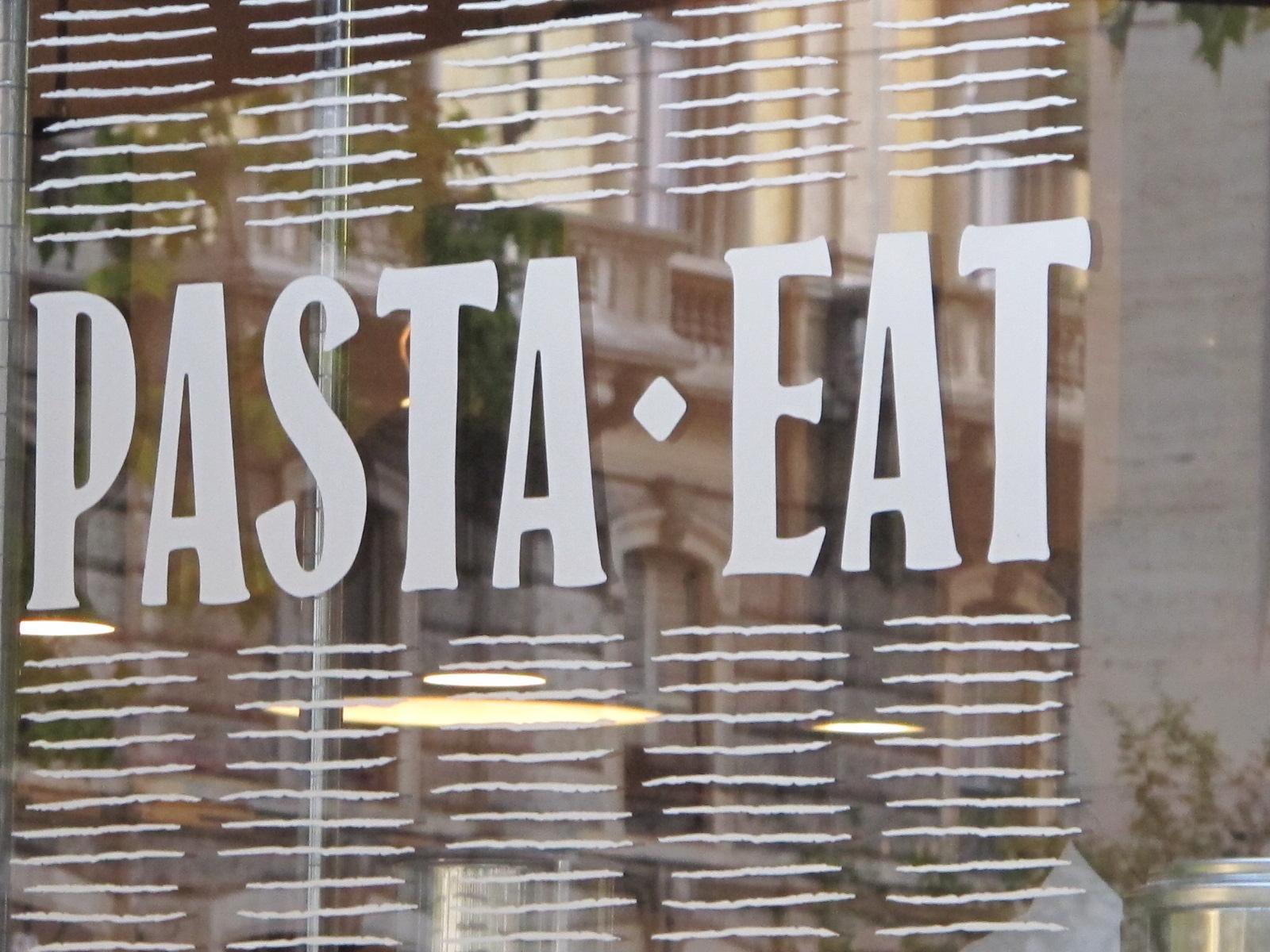 Pasta eat, oui mais des pâtes!