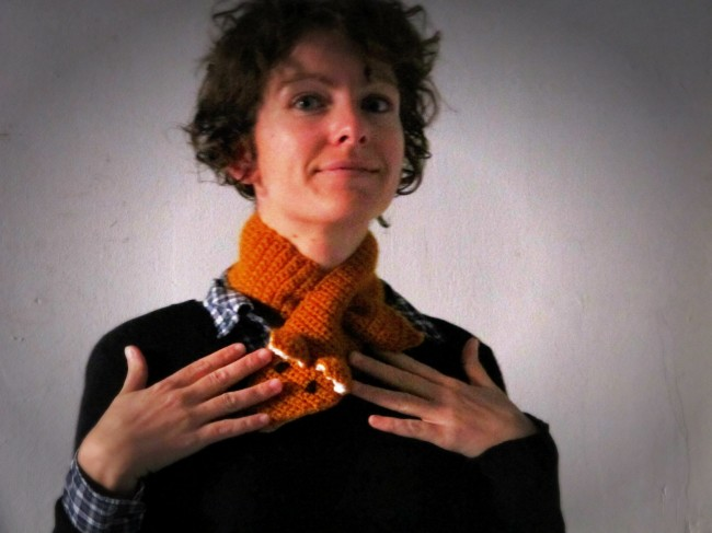 col écharpe renard crochet tuto diy tricot
