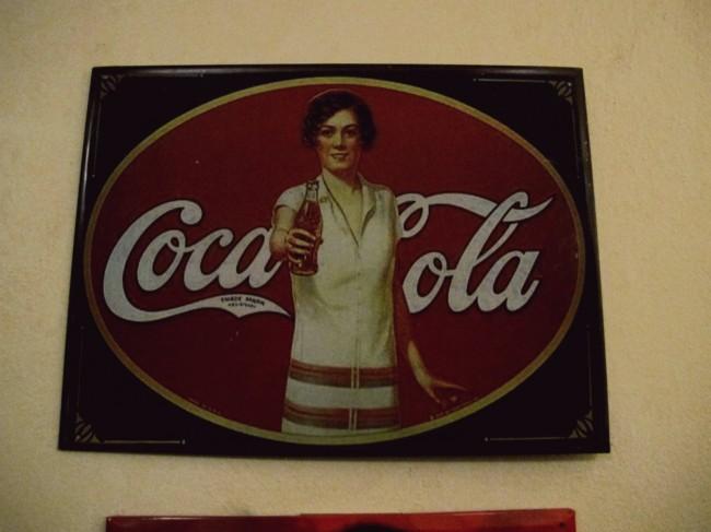 plaque émaillée coca cola