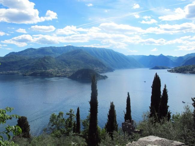 vue lac de come panorama