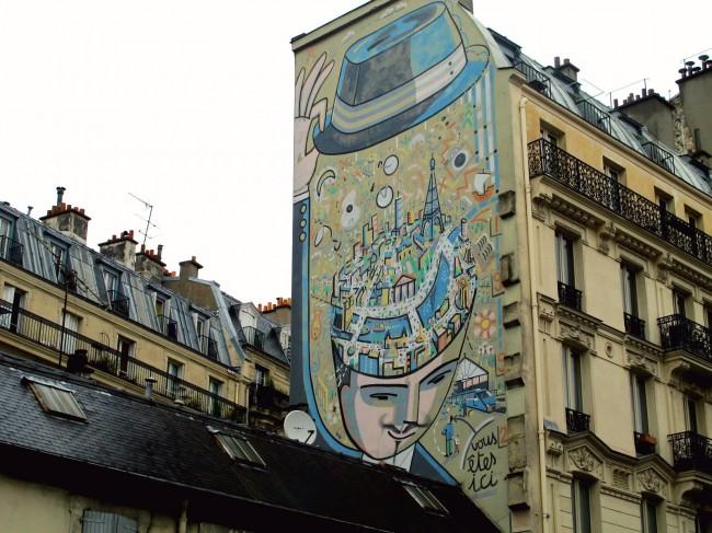 mur peint paris
