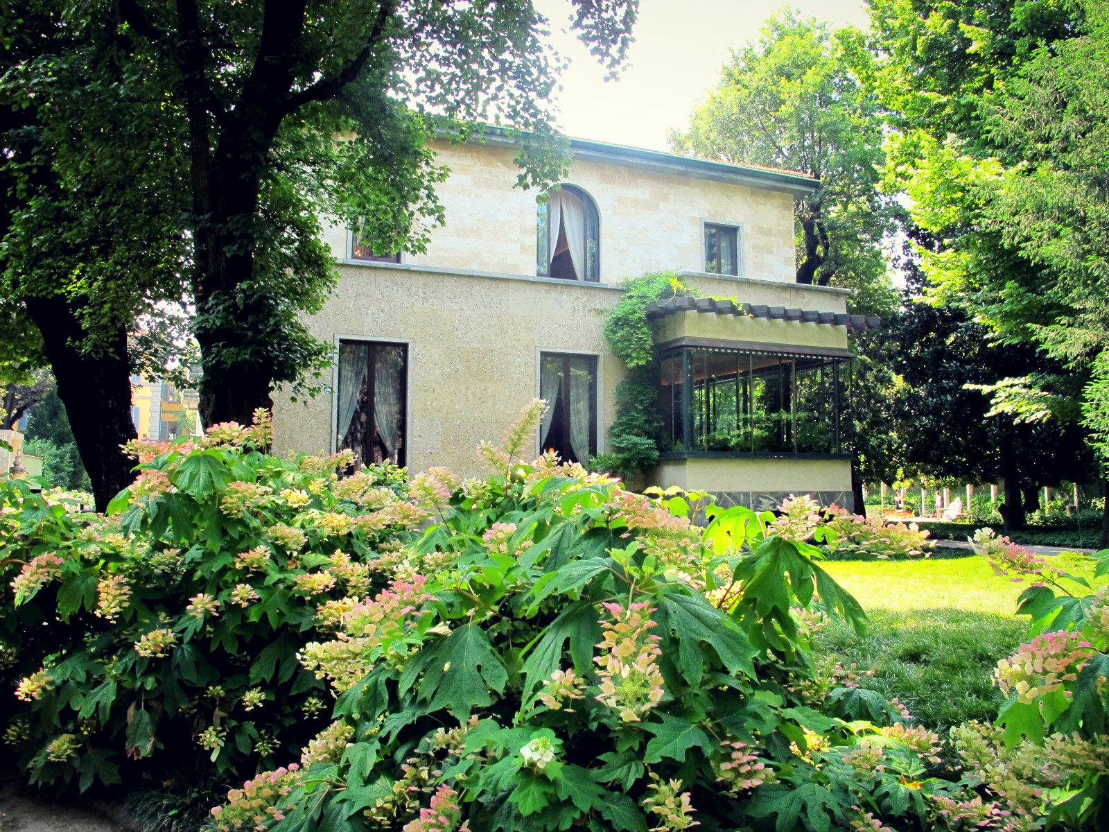 Le parc de Villa Necchi à Milan, fraîcheur et raffinement…
