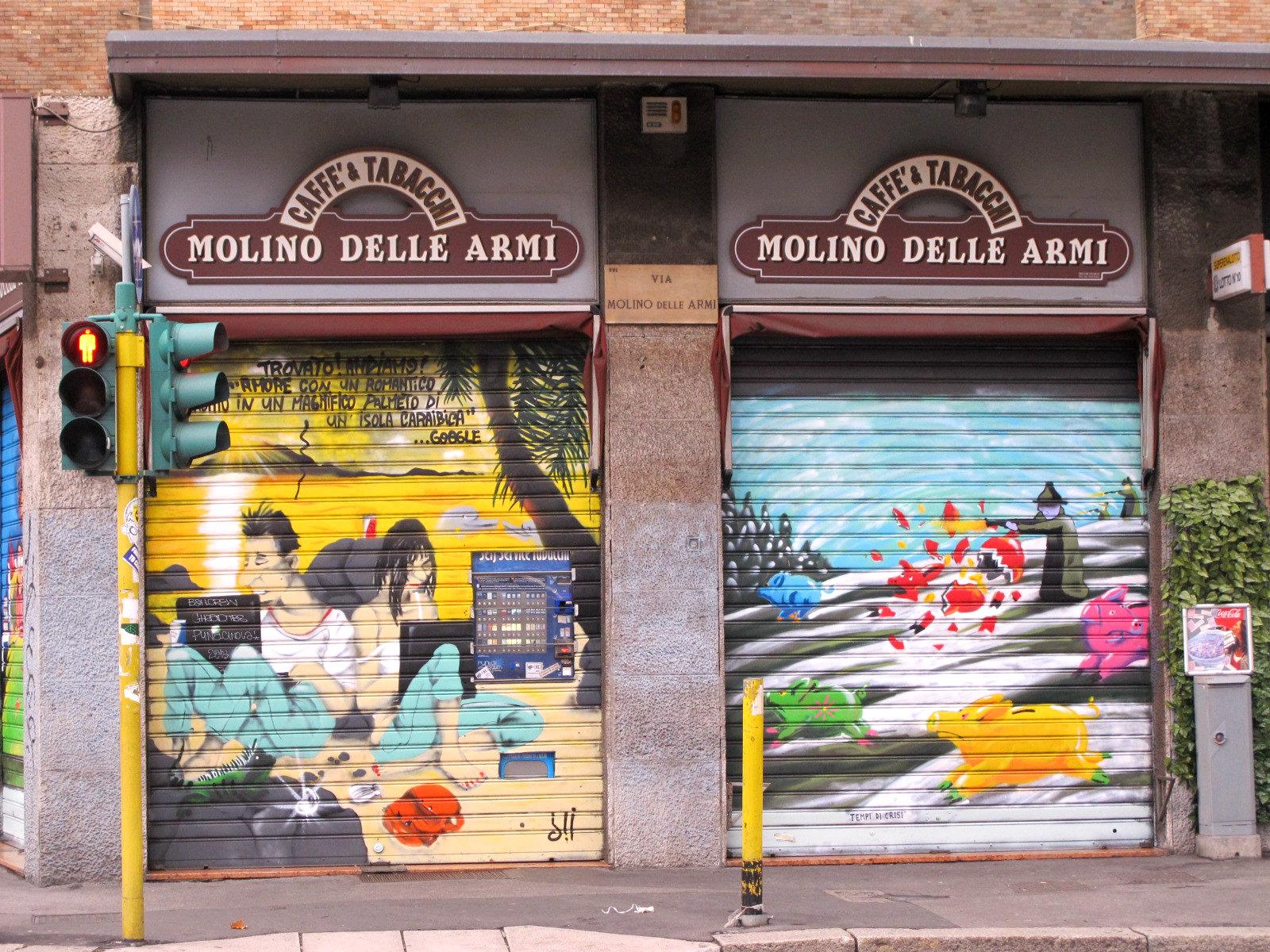 Des stores et des couleurs, paysage milanais… (2)