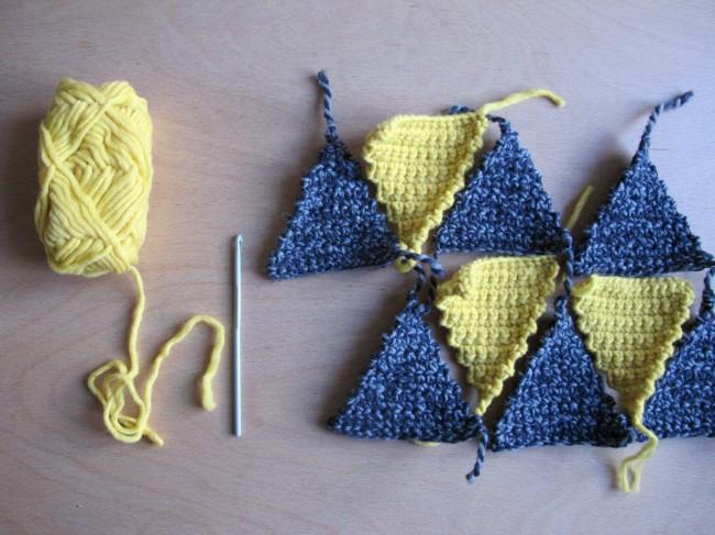 couverture triangle au crochet