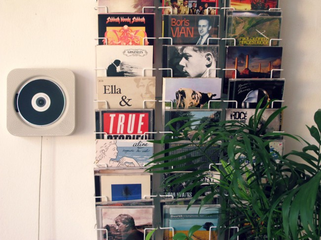 rangement disques design
