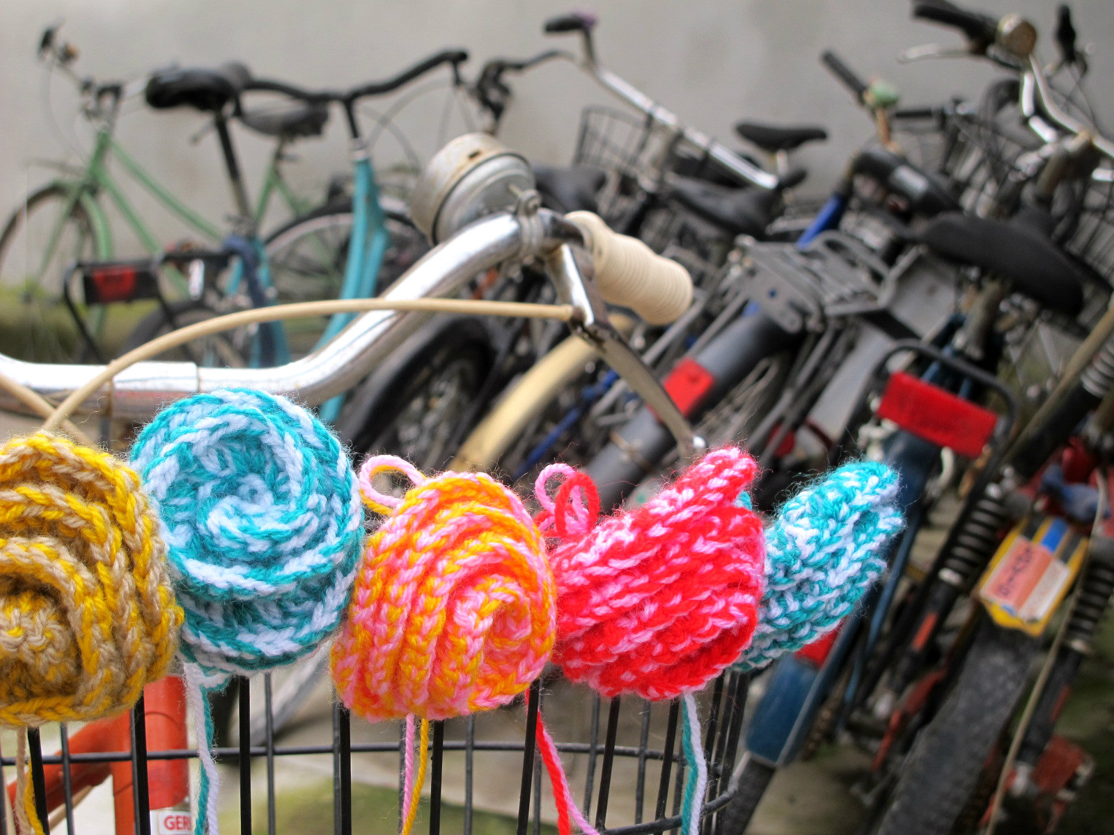 Flower power à vélo!