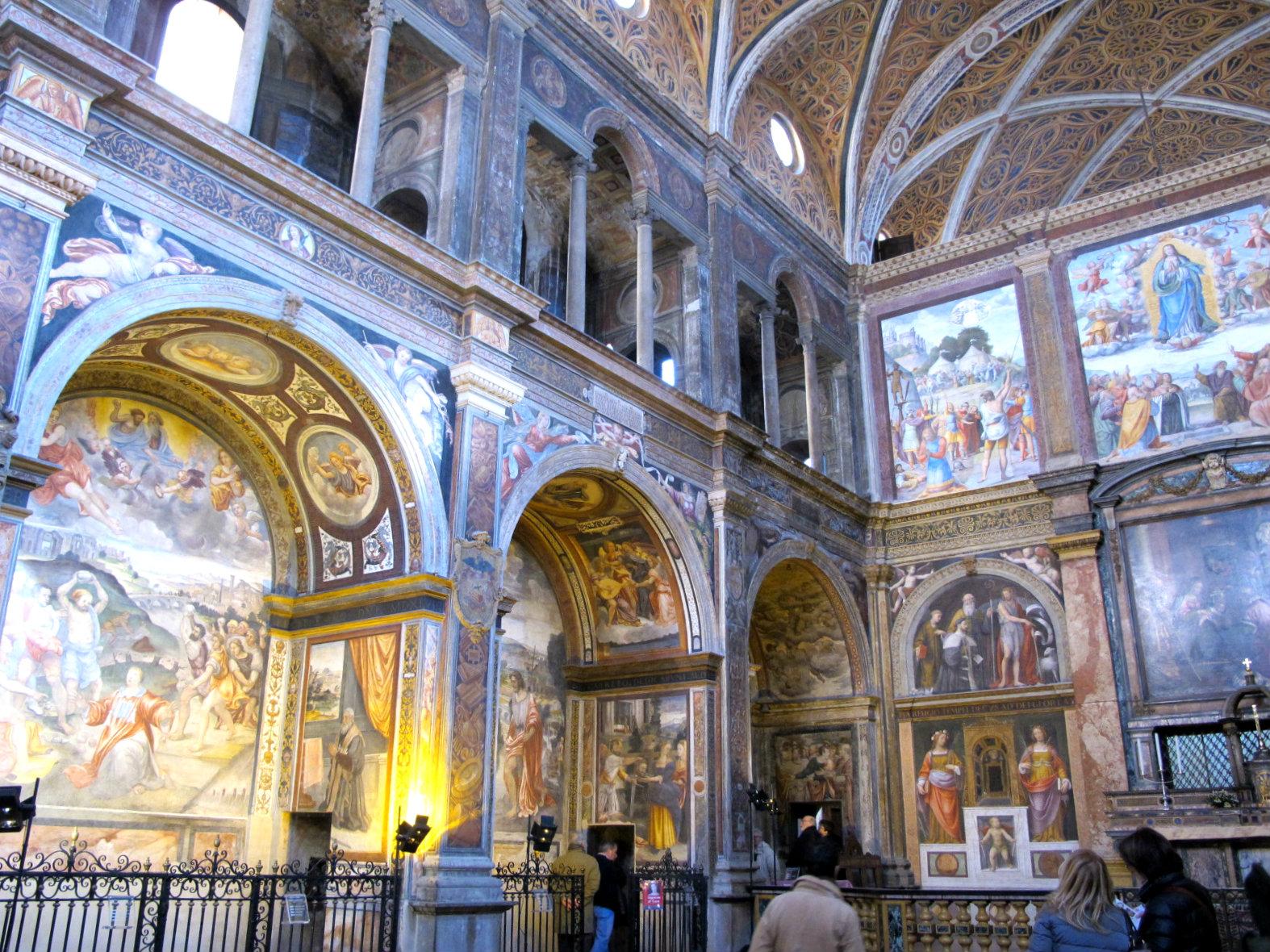 Eglise de San Maurizio à Milan, déluge* d'ornements!