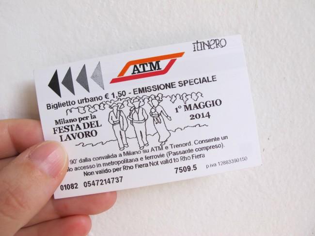 ticket métro milan quarto stato pellizza