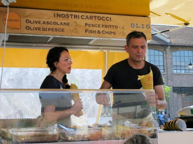 street food fish and chips milan