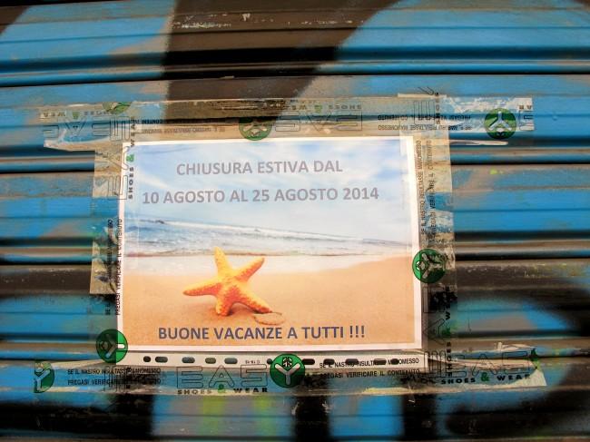 magasins fermés août milan