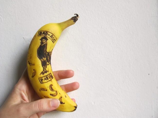 art sur banane
