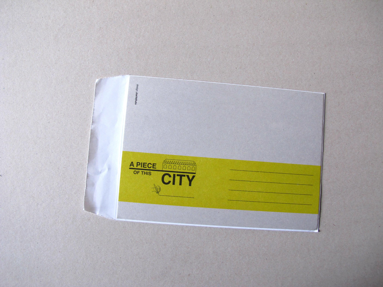 A piece of this city, courrier pour touriste inspiré
