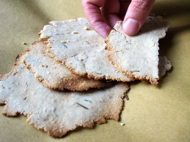 crackers sans gluten romarin sésame