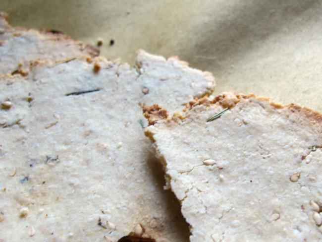 crackers au sésame sans gluten