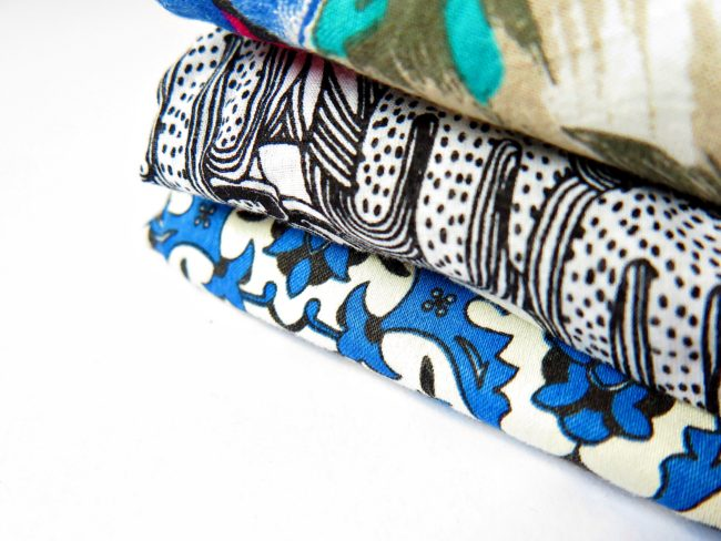 imprimés mélangés textile