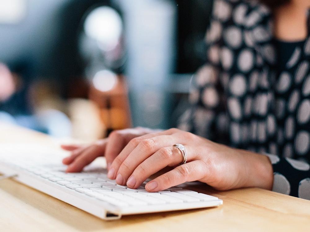 écrire ordinateur clavier